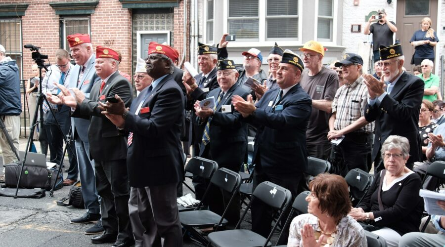 Members of Post 107 celebrating its 100th anniversary.