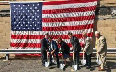 Groundbreaking ceremony in 2019 for the renovation that provided 6 housing units for homeless veterans.