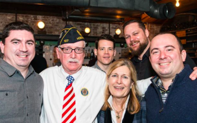 Post members, friends and Sons of the Legion connecting at the renovated Post.