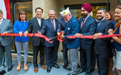 Members of Post 107 at the Veterans Center of Hoboken ribbon cutting ceremony for Phase 1.