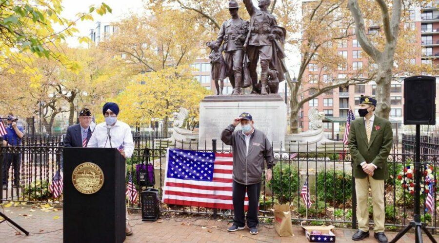 Veterans Day Memorial Ceremony with Hoboken Mayor Ravi Bhalla